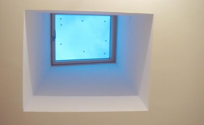 Installation d'un puit de lumière