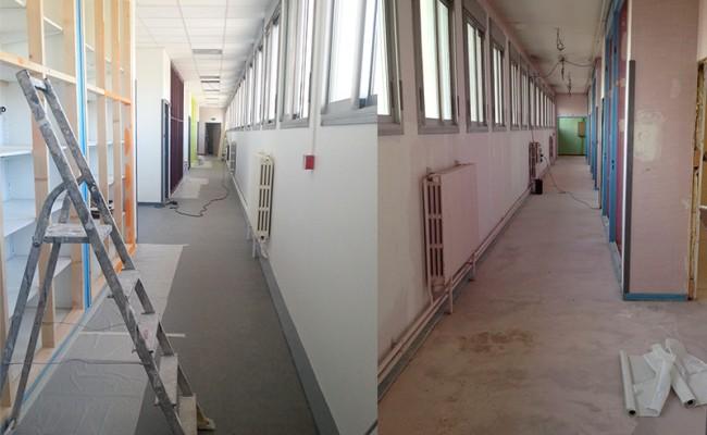 Après/Avant Rénovation établissements scolaires