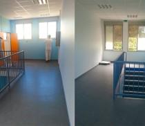 Rénovation peinture de l'école maternelle Le Moulin à vent, département du Rhône