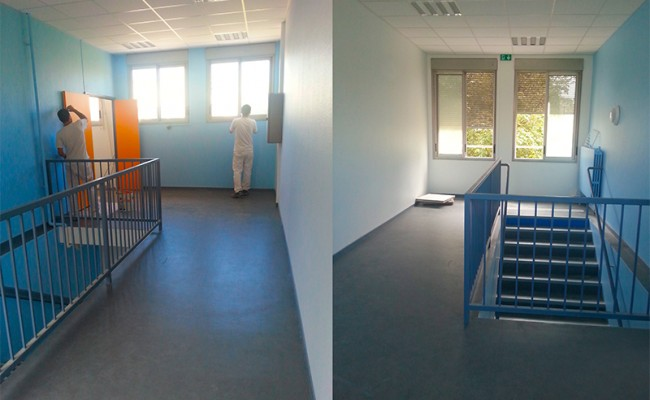 Rénovation peinture école Le Moulin à vent