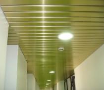 Pose de faux plafond métallique - La pairie - Rhône