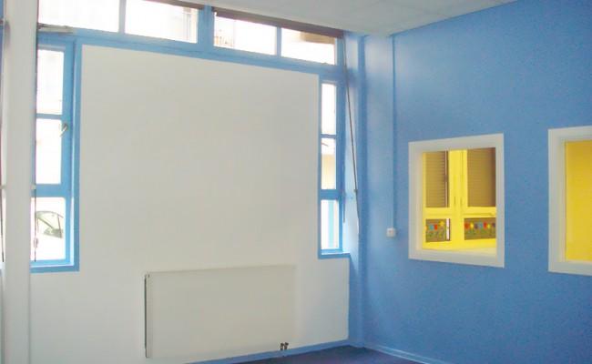 travaux de peinture pour une crèche à Lyon 6e