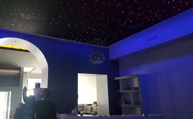 Plafond ciel étoilé – Le Ryad Oriental Lounge – Lyon 1er
