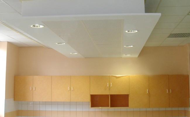 Pose de faux plafond – Ecole primaire Jules Verne, Lyon 3e